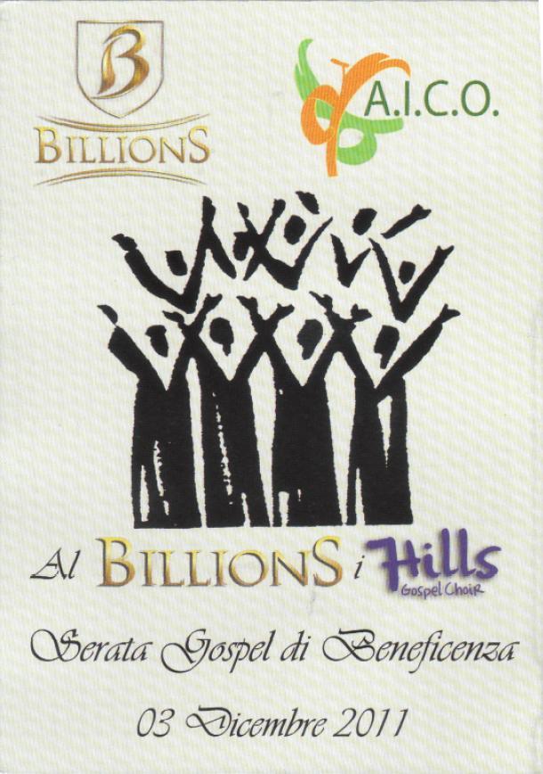 Coro Gospel al Billions