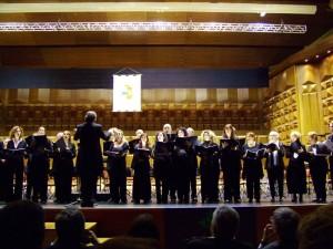 Il Coro Upter durante la sua esibizione all'Auditorium di S. Cecilia in Roma